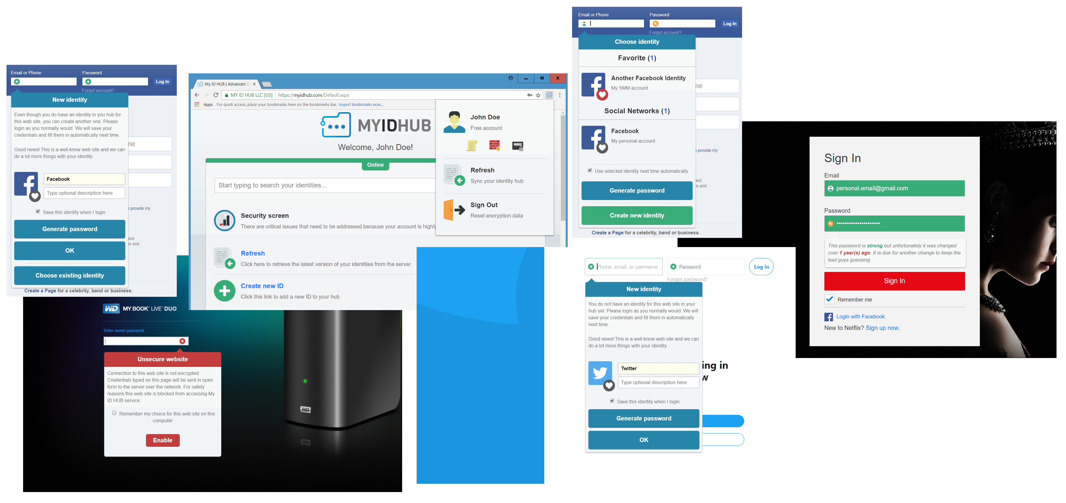 My ID HUB | Advanced online password manager